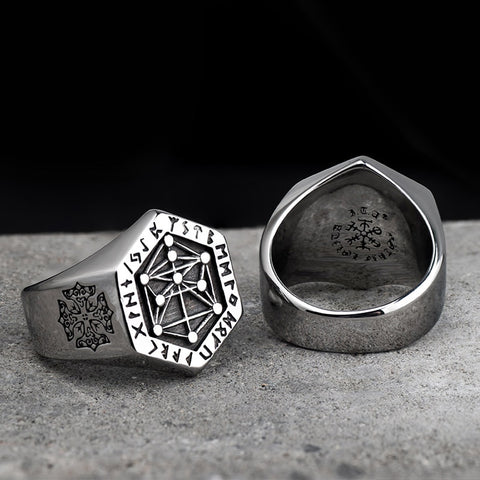 Viking Vegvisir Ring For Mens