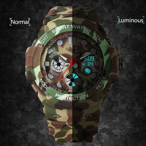 Image of Dual Display Camouflage Digital Watch