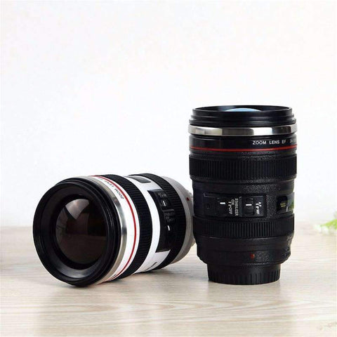 Image of Camera Lens Coffee Mug Stainless Steel Thermos Lined & Lid
