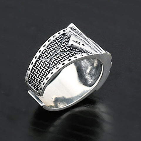 Playing Card Resizable Ring Stainless Steel Poker Ring For Men's