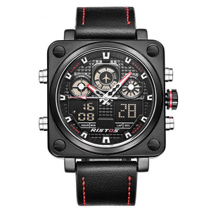 Multiple Time Zone Square Pilot  Watch