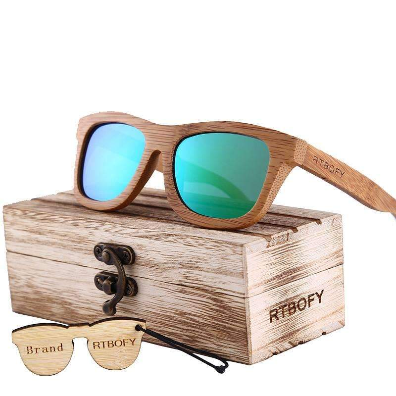 Unisex Retro Bamboo Wood Sunglasses
