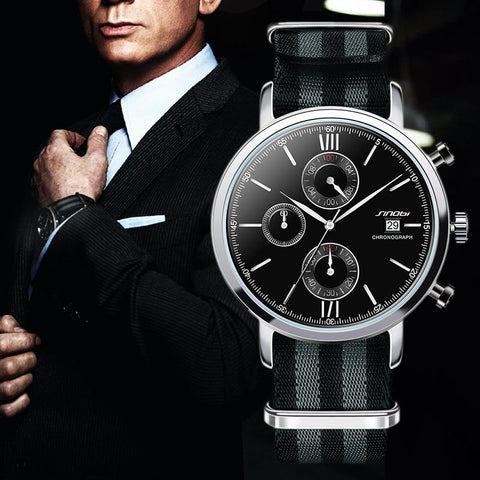 Image of Mens James Bond Chronograph Quartz Wristwatch