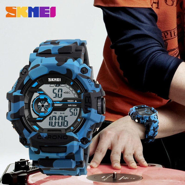 Sports Camo Watches - Waterproof Blue Camouflage Watch