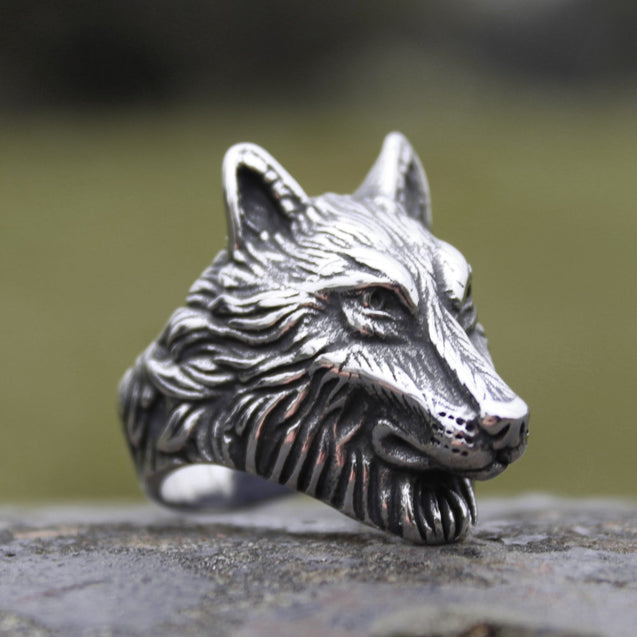 Wolf Ring Mens Fashion Animal Jewelry