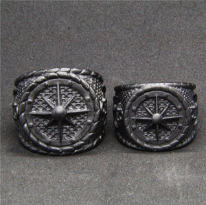 Stainless Steel Dull Polishing Black Anchor Ring