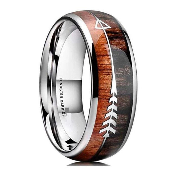 Wood & Arrow Tungsten Ring