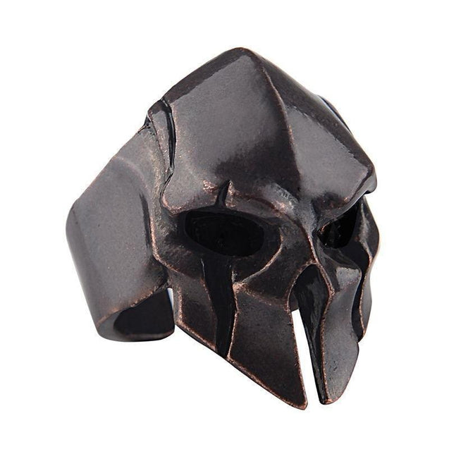 Spartan Helmet Mask Ring for Men