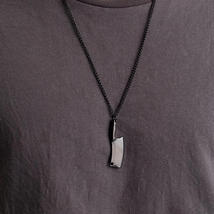 Meat Cleaver Pendant Necklace for Men Chef Blade Necklace