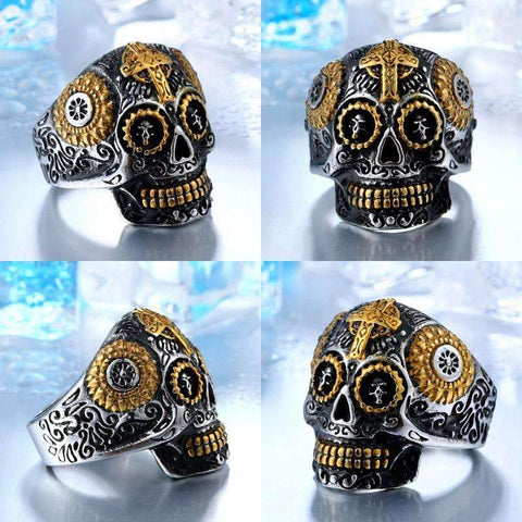 Image of Men's Steampunk Skull Ring - [4 Variants]
