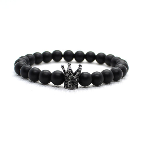 Mens Skull Crown Bracelet set