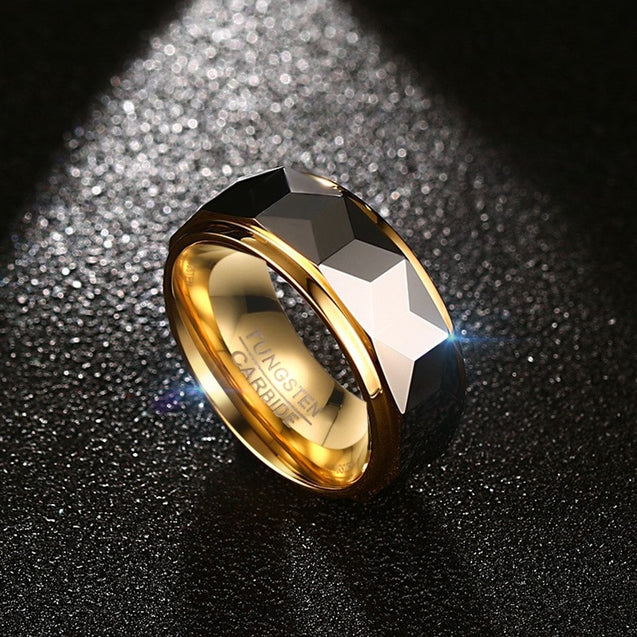 8mm Rhombus Tungsten Ring for Men