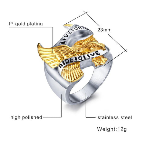 Image of Eagle LIVE TO RIDE Ring