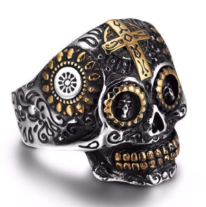 Men's Steampunk Skull Ring - [4 Variants]