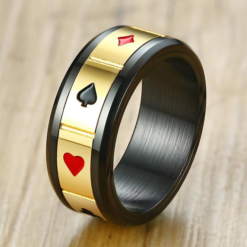 Men's Spinner Poker Ring