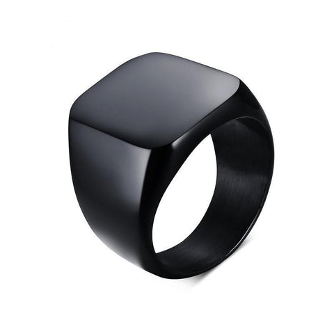 Image of Men's Black Flat Top Ring