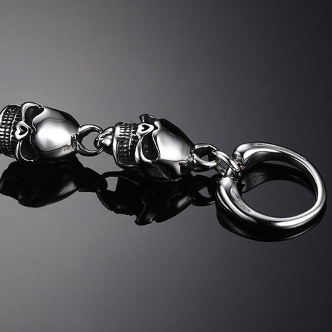 Image of Mens Skull Head Bracelet