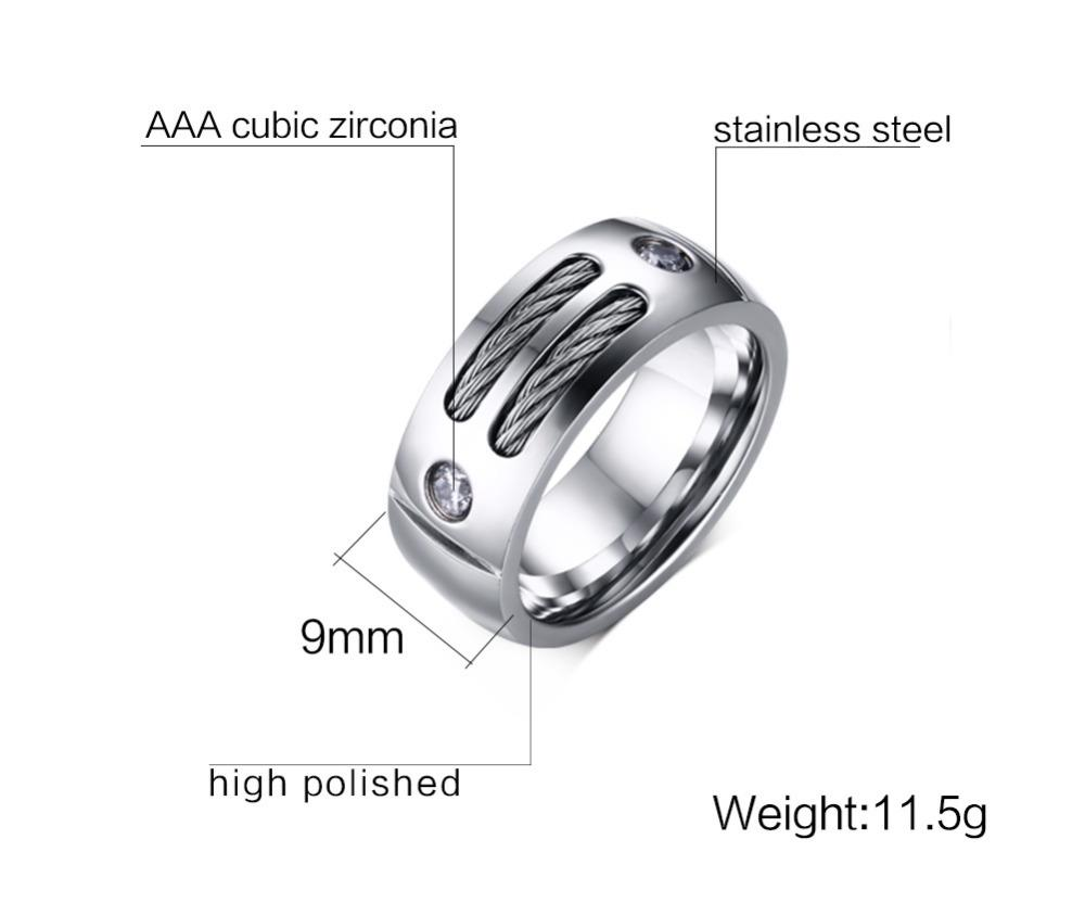 Titanium Black Steel Cable Ring