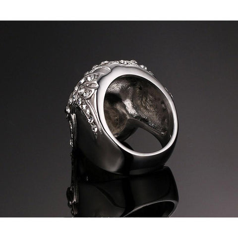 Iced Out Biker Skull Ring