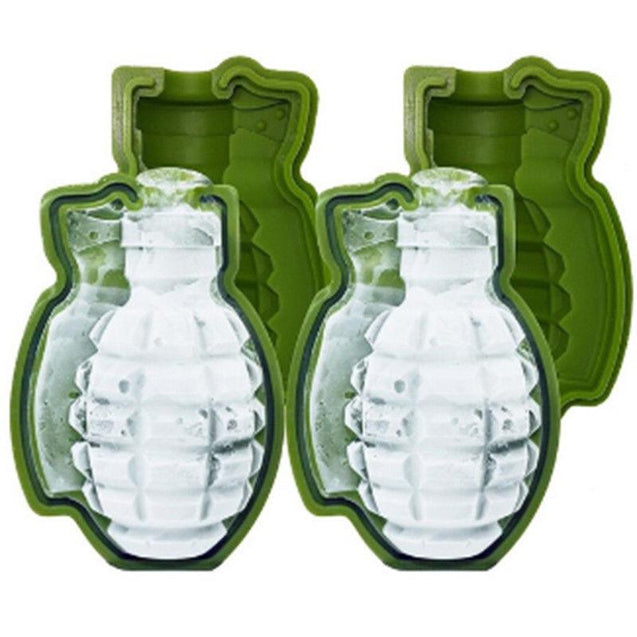 3D Grenade-Shaped Ice Cube Mold