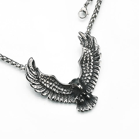 Image of Flying Eagle Pendant Necklace
