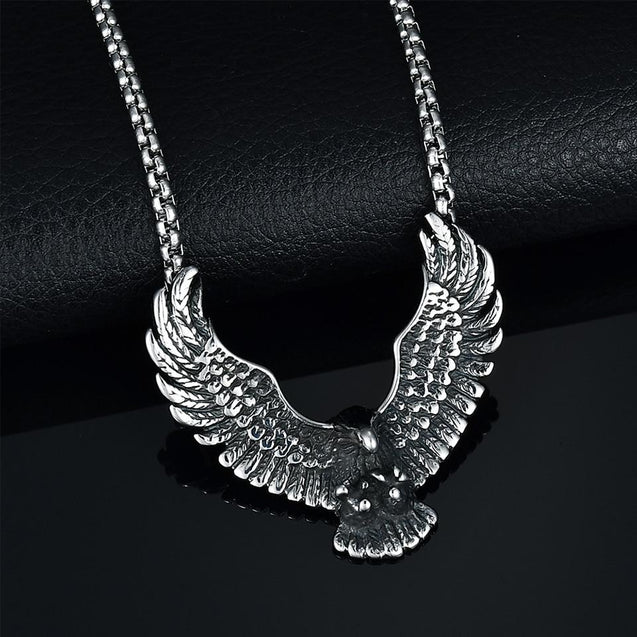 Flying Eagle Pendant Necklace