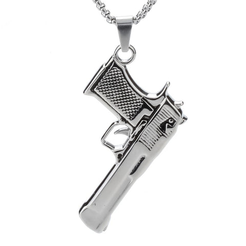 Image of Gun Pendant Necklace