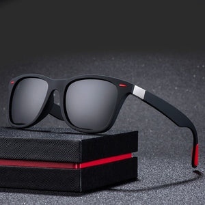 Classic Polarized Sunglasses Men Driving Square Frame Sunglasses