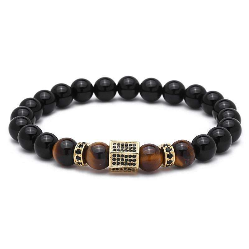 Luxury Tiger Eye & Agate Stone Bracelet [4 Variations]