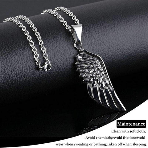 Image of Angel Wing Pendate Necklace