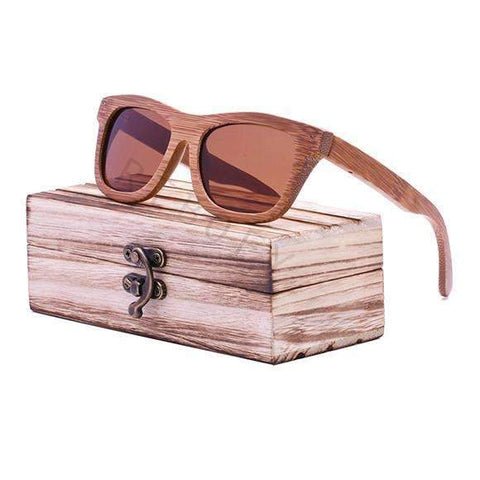 Image of Unisex Retro Bamboo Wood Sunglasses