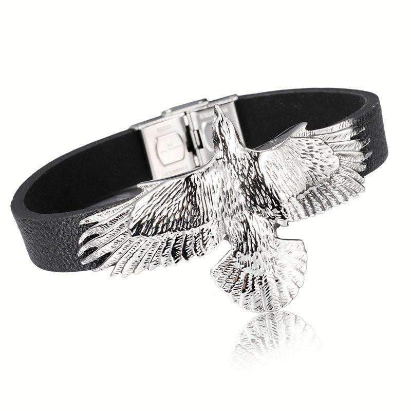 Leather Eagle Bracelet