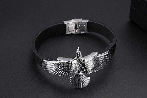 Image of Leather Eagle Bracelet
