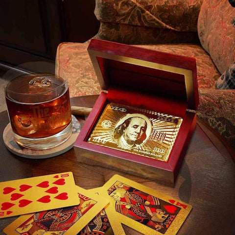 24k Gold Playing Cards with Certificate And Box
