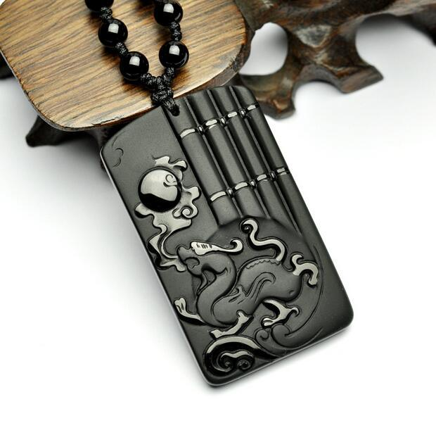 Carving Dragon Necklace