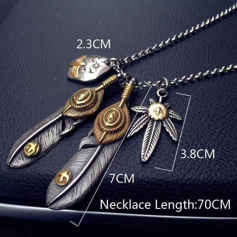 Image of Feather Pendant Necklaces [3 Variations]
