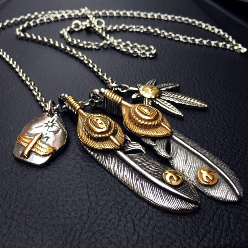 Feather Pendant Necklaces [3 Variations]