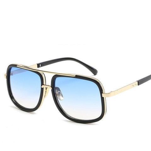 Image of LUXE BLACK GOLD SQUARE SHADES