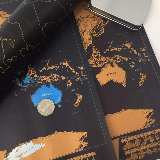 Scratch Off Map Deluxe Edition