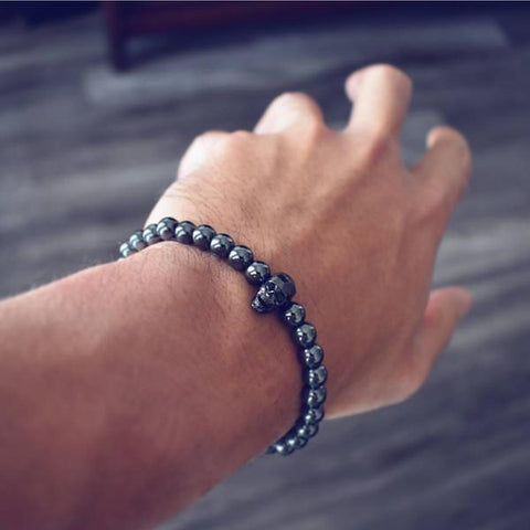 Image of mens beaded bracelet