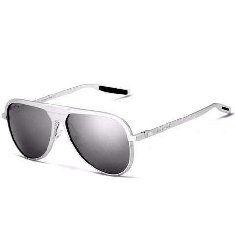 Image of Military Black Metal Pilot Style Sunglasses