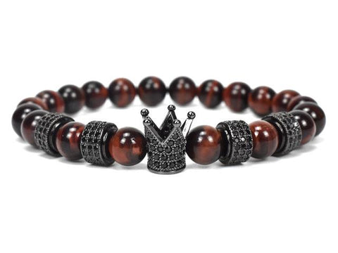 Image of Natural red stone beaded Bracelet Set