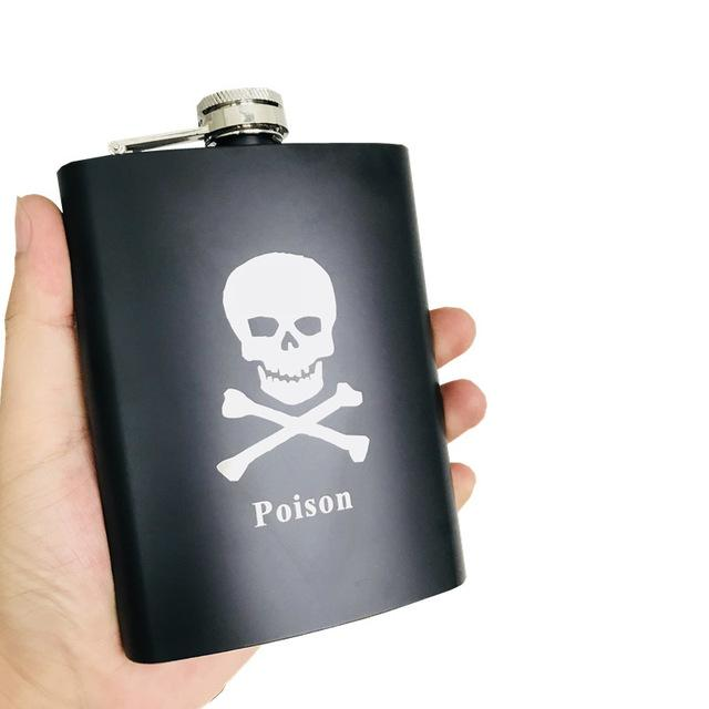 Skull Alcohol Hip Flask