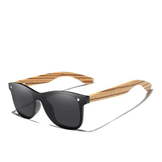 mens wooden sunglasses black lense