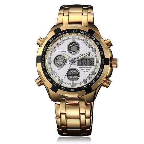 Men's Luxury Dual Time Quartz Watch - [4 Variants]