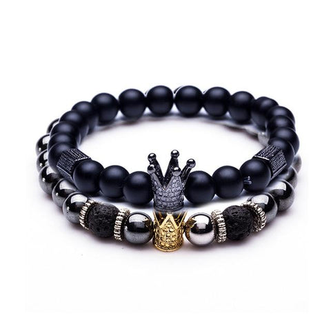 Vareno Beaded Crown Bracelet Set