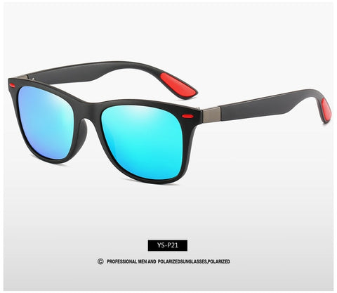 Image of Classic Polarized Sunglasses Men Driving Square Frame Sunglasses