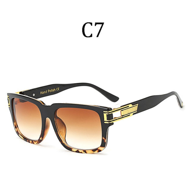 Luxury men's Large frame Shield Sunglasses