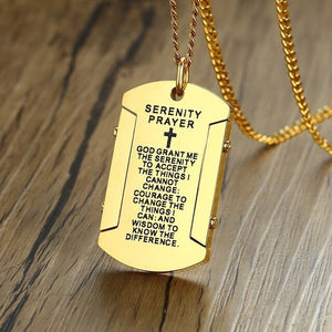 Mens Dog Tag Necklace with