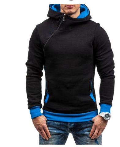 Image of Oblique Zipper Hoodies Men Fashion